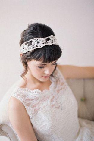 70+ Best Wedding lace headpiece Ideas 75
