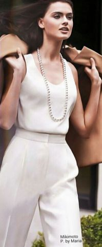 Great Pearl Necklace Outfit Ideas 70+ 4