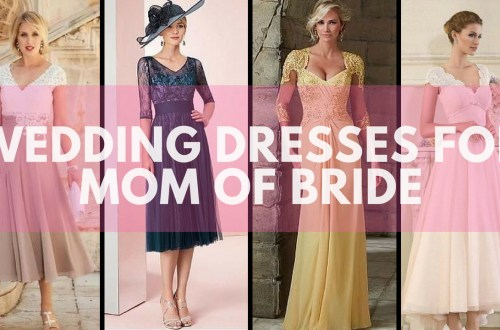 Wedding dresses for mom of bride