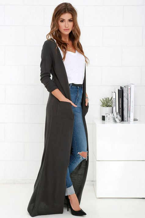 17 extra long black cardigan ideas 12