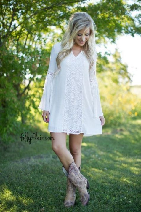 20 Best country western dresses for weddings 25