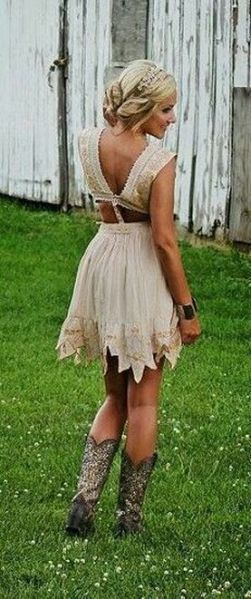 20 Best country western dresses for weddings 7