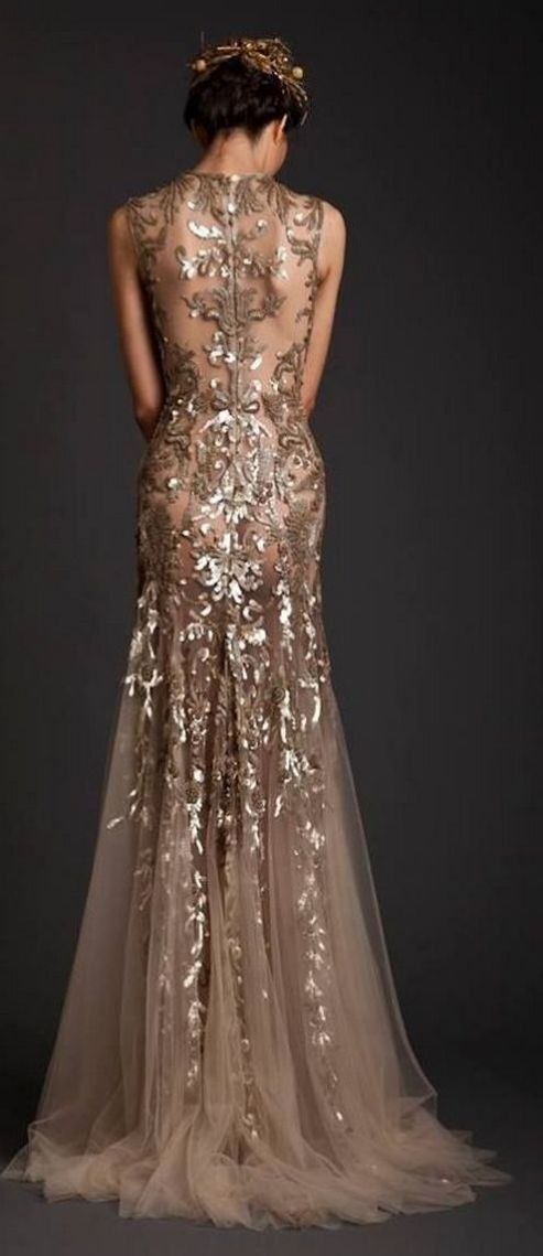 20 Gold Prom Dresses Flower ideas 1