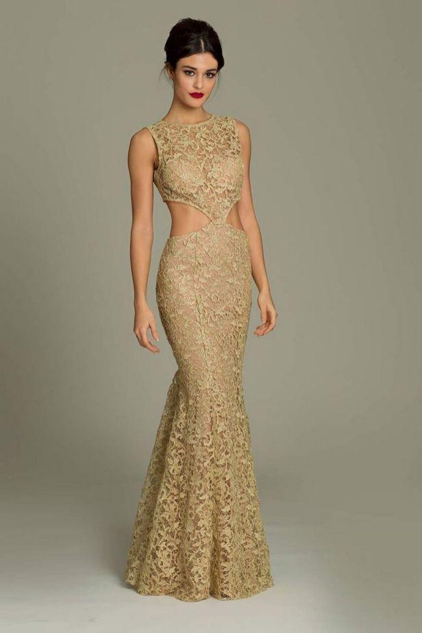20 Gold Prom Dresses Flower ideas 15