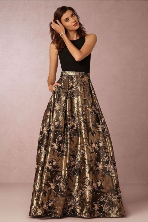 20 Gold Prom Dresses Flower ideas 2