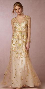 20 Gold Prom Dresses Flower ideas 9