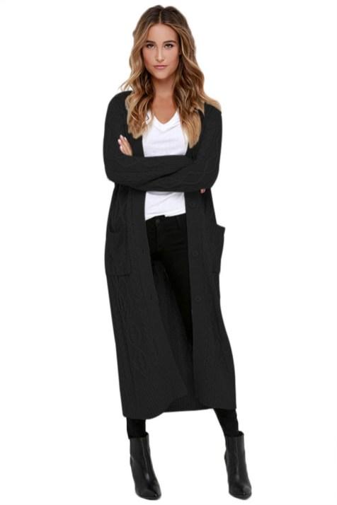 20 Long Sweater Cardigan Pocket Ideas 14
