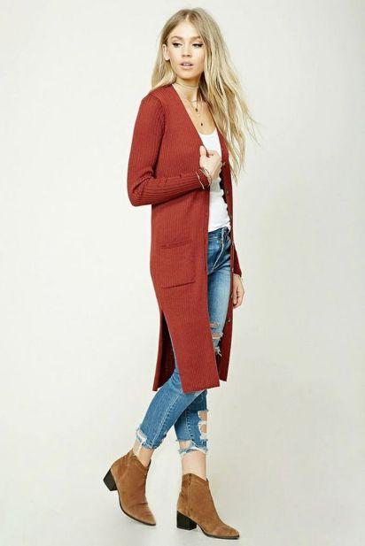 20 Long Sweater Cardigan Pocket Ideas 19
