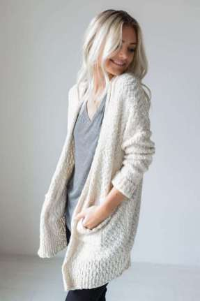 20 Long Sweater Cardigan Pocket Ideas 2