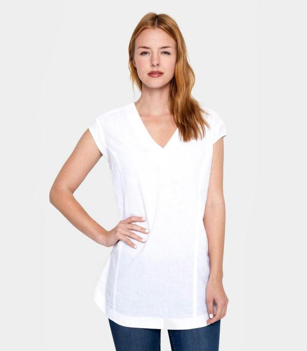20 White Tunic Shirts for Women 14