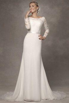 27 Simple White Long Sleeve Wedding Dresses ideas 13