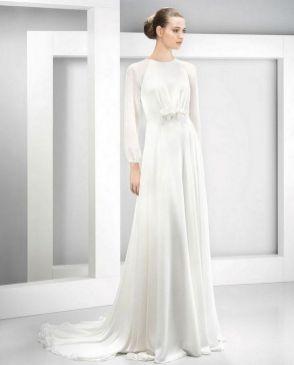 27 Simple White Long Sleeve Wedding Dresses ideas 14