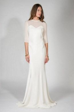 27 Simple White Long Sleeve Wedding Dresses ideas 18