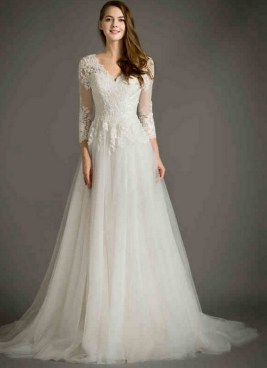 27 Simple White Long Sleeve Wedding Dresses ideas 2