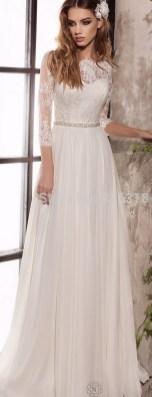 27 Simple White Long Sleeve Wedding Dresses ideas 24