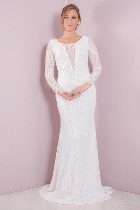 27 Simple White Long Sleeve Wedding Dresses ideas 26