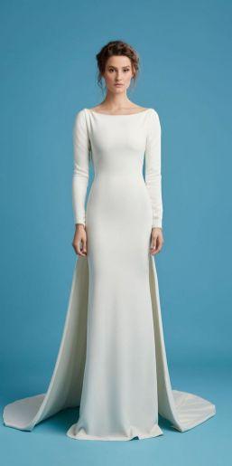 27 Simple White Long Sleeve Wedding Dresses ideas 27