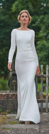 27 Simple White Long Sleeve Wedding Dresses ideas 5