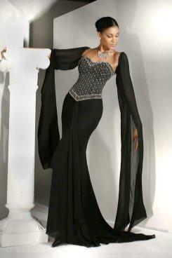 30 Black Long Sleeve Wedding Dresses ideas 15