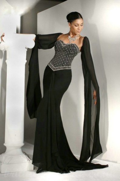 30 Black Long Sleeve Wedding Dresses ideas 15