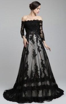 30 Black Long Sleeve Wedding Dresses ideas 17 1