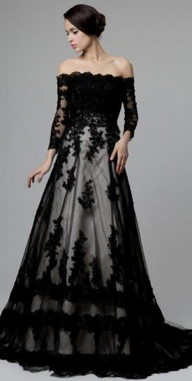 30 Black Long Sleeve Wedding Dresses ideas 26 1
