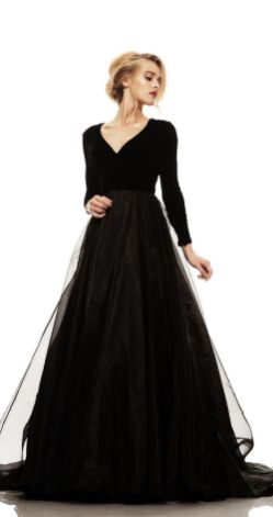 30 Black Long Sleeve Wedding Dresses ideas 6 1