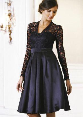 30 Black Long Sleeve Wedding Dresses ideas 9