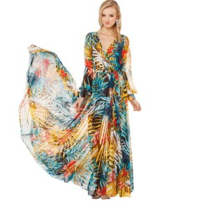 30 Women Print Dresses with sleeves Ideas 1