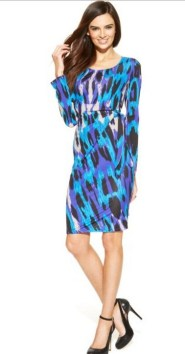 30 Women Print Dresses with sleeves Ideas 13