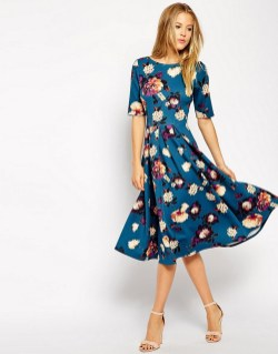 30 Women Print Dresses with sleeves Ideas 23