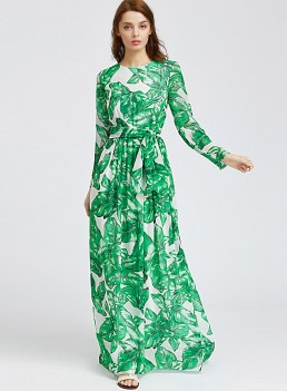 30 Women Print Dresses with sleeves Ideas 4