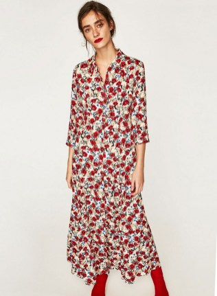 30 Women Print Dresses with sleeves Ideas 6