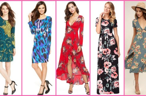 30 Women Print Dresses with sleeves Ideas