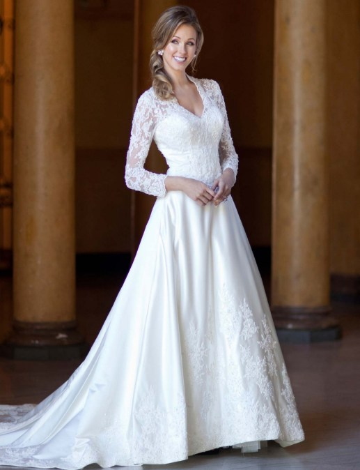 40 High Low Long Sleeve Modern Wedding Dresses Ideass 10
