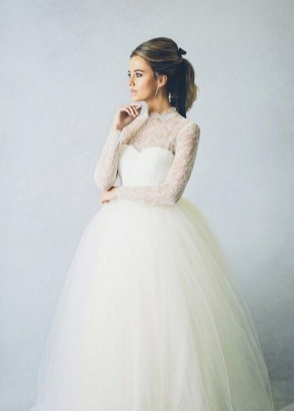 40 High Low Long Sleeve Modern Wedding Dresses Ideass 17