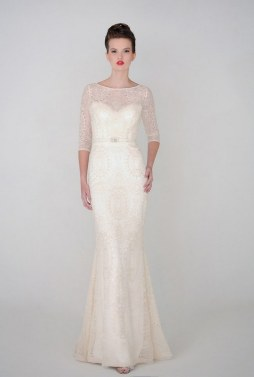 40 High Low Long Sleeve Modern Wedding Dresses Ideass 21