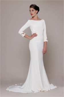 40 High Low Long Sleeve Modern Wedding Dresses Ideass 26