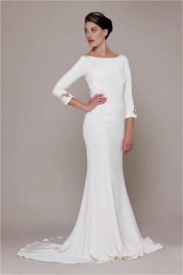 40 High Low Long Sleeve Modern Wedding Dresses Ideass 26