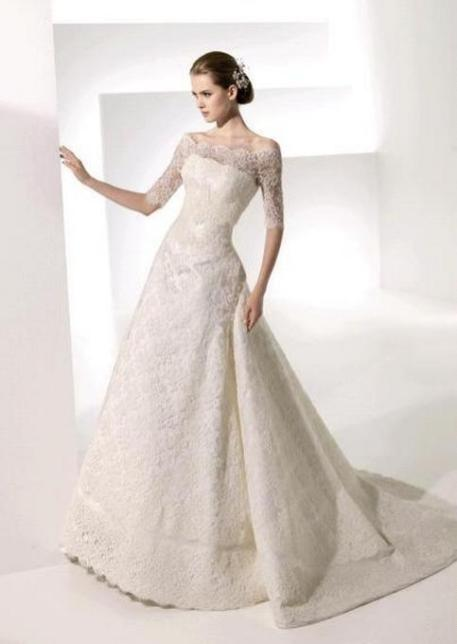 40 High Low Long Sleeve Modern Wedding Dresses Ideass 27