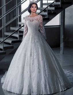40 High Low Long Sleeve Modern Wedding Dresses Ideass 28