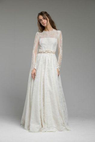 40 High Low Long Sleeve Modern Wedding Dresses Ideass 31