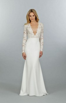 40 High Low Long Sleeve Modern Wedding Dresses Ideass 4