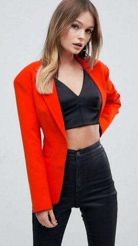 40 Womens red blazer jackets ideas 1