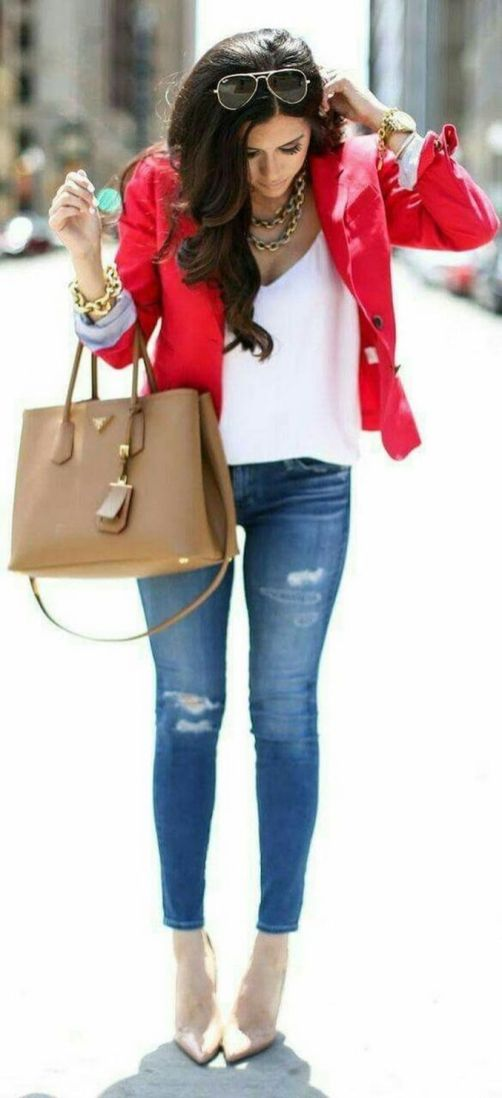 40 Womens red blazer jackets ideas 14