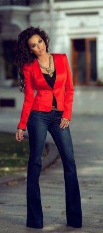 40 Womens red blazer jackets ideas 16