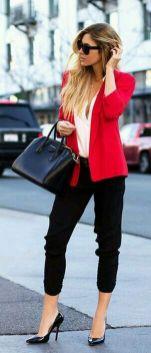 40 Womens red blazer jackets ideas 19