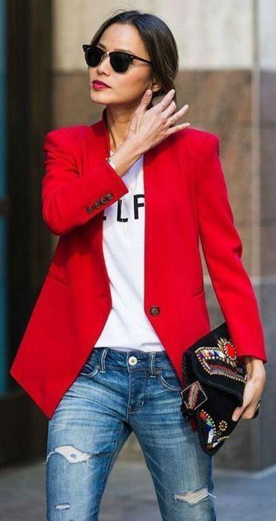 40 Womens red blazer jackets ideas 2