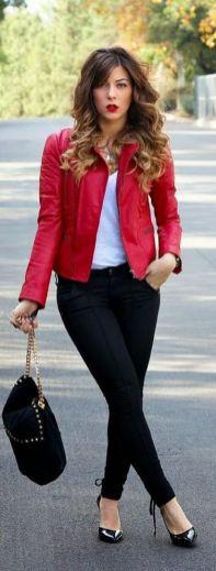 40 Womens red blazer jackets ideas 21