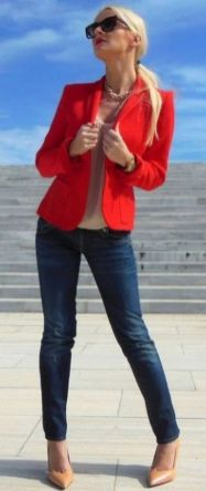 40 Womens red blazer jackets ideas 24